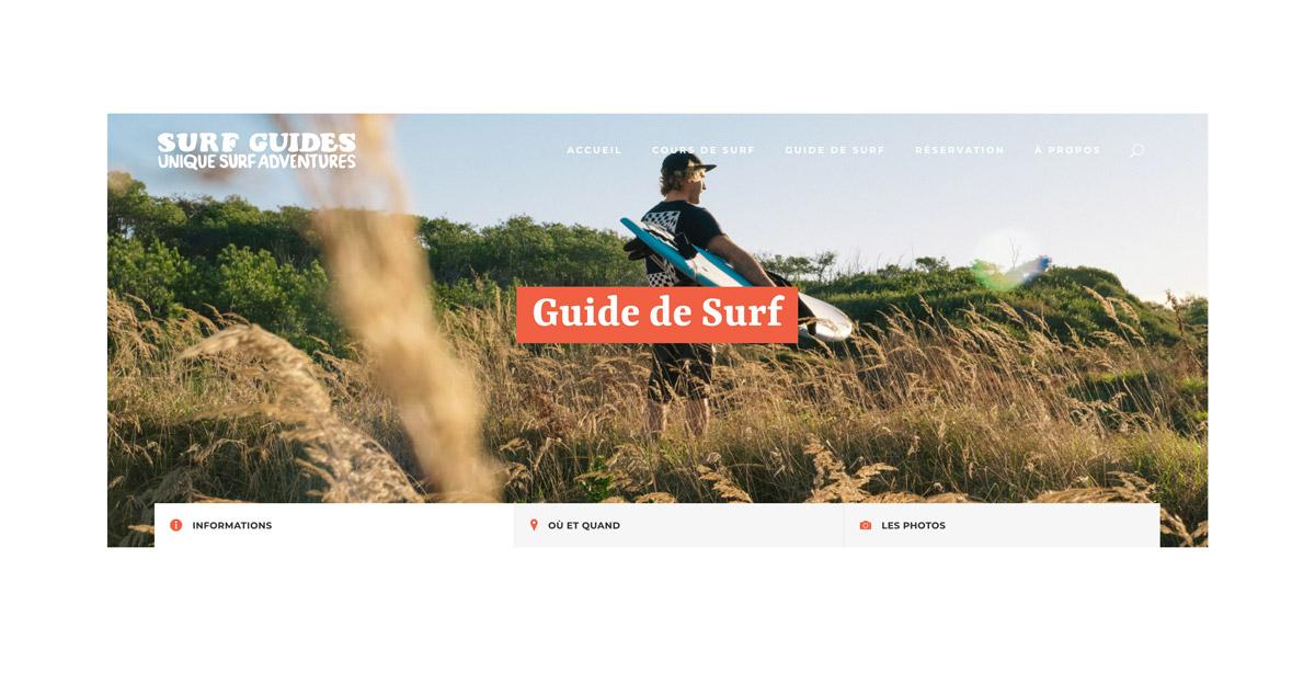 Jean Le Roy - Développeur web et consultant social medias à Biarritz - Surf Guides - Vitrine