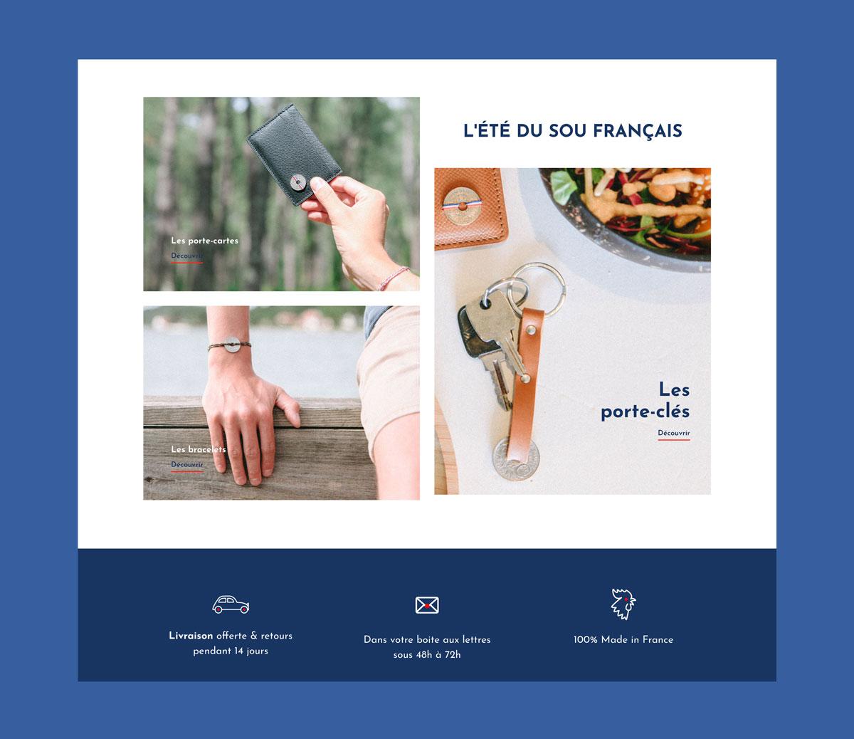 Jean Le Roy - Développement site e-commerce - Le Sou Français page d'accueil site - Biarritz