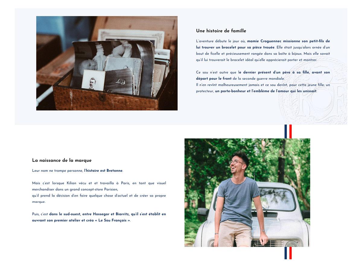 Jean Le Roy - Développement site e-commerce - Le Sou Français page about - Biarritz